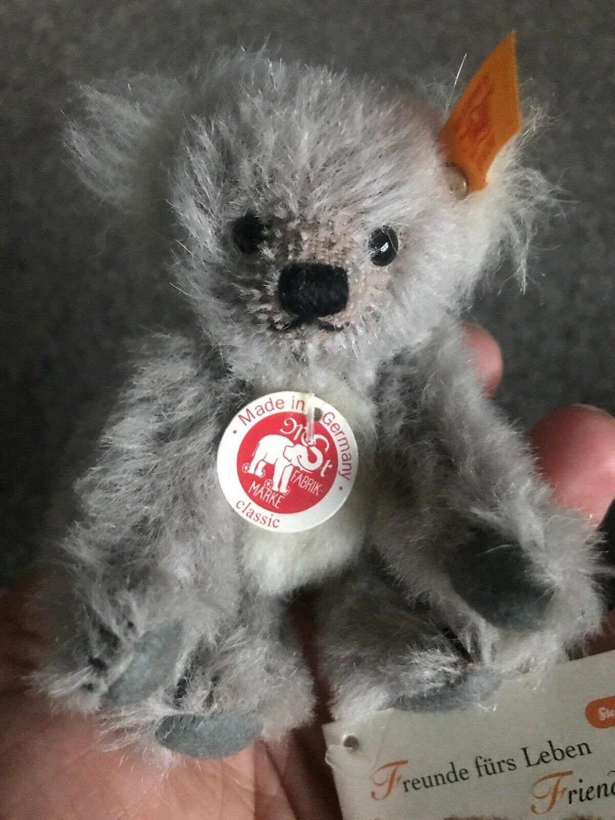 "WOW-New W Tags SteiffKoala Bear 4"" Jointed Mohair Fully Jointed  Ean 039416"