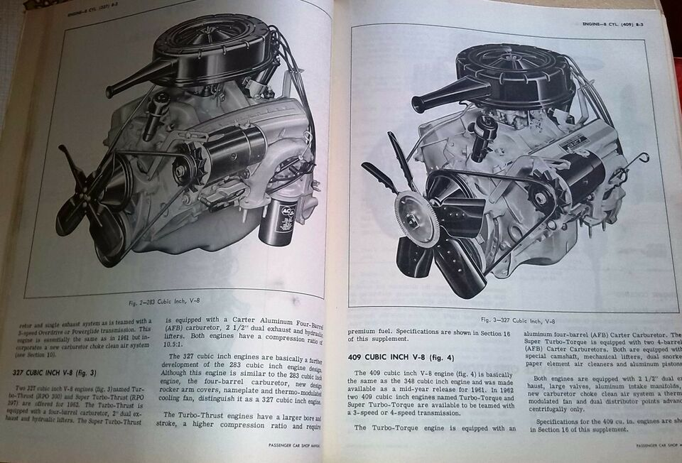 Original Shop Manual, 1962 Chevrolet