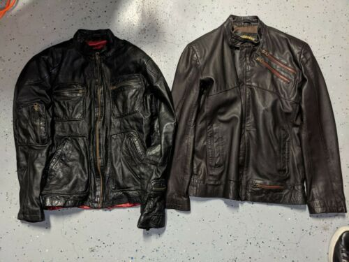 Two Leathercult leather Jackets Size Small