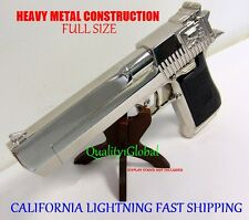 NEW 2017 CHROME METAL REPLICA 50 CAL DESERT EAGLE MOVIE PROP Pistol Gun Training