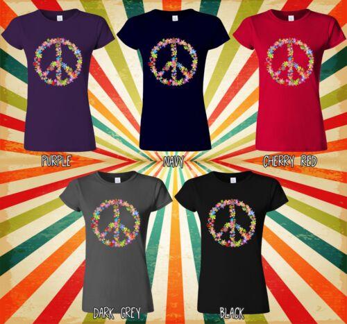 Peace Sign Flower Summer Cool Hipster Men Women Vest Tank Top Unisex T Shirt 449