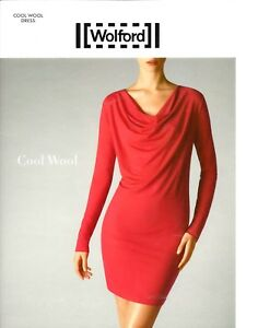 Wolford Cool Wool Dress Kleid rot red Lipstick S Small knielang 38 ... 09371224d4