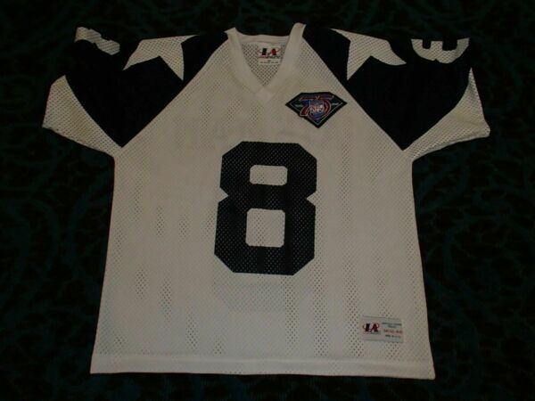 official photos b827d 42ffc Vintage Logo Athletic Dallas Cowboys Troy Aikman Jersey 75th ...