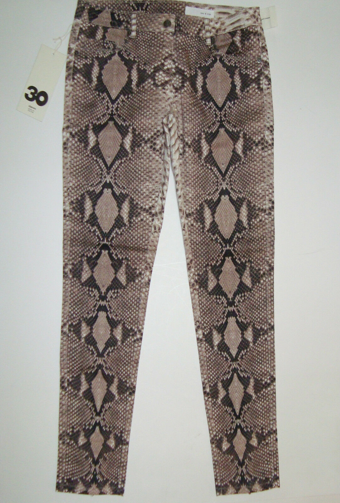 42d6307d61d5 BNWT SASS&BIDE REPTILE PRINT SKINNY JEANS - 30 THE LONGEST NIGHT ZIPPORA