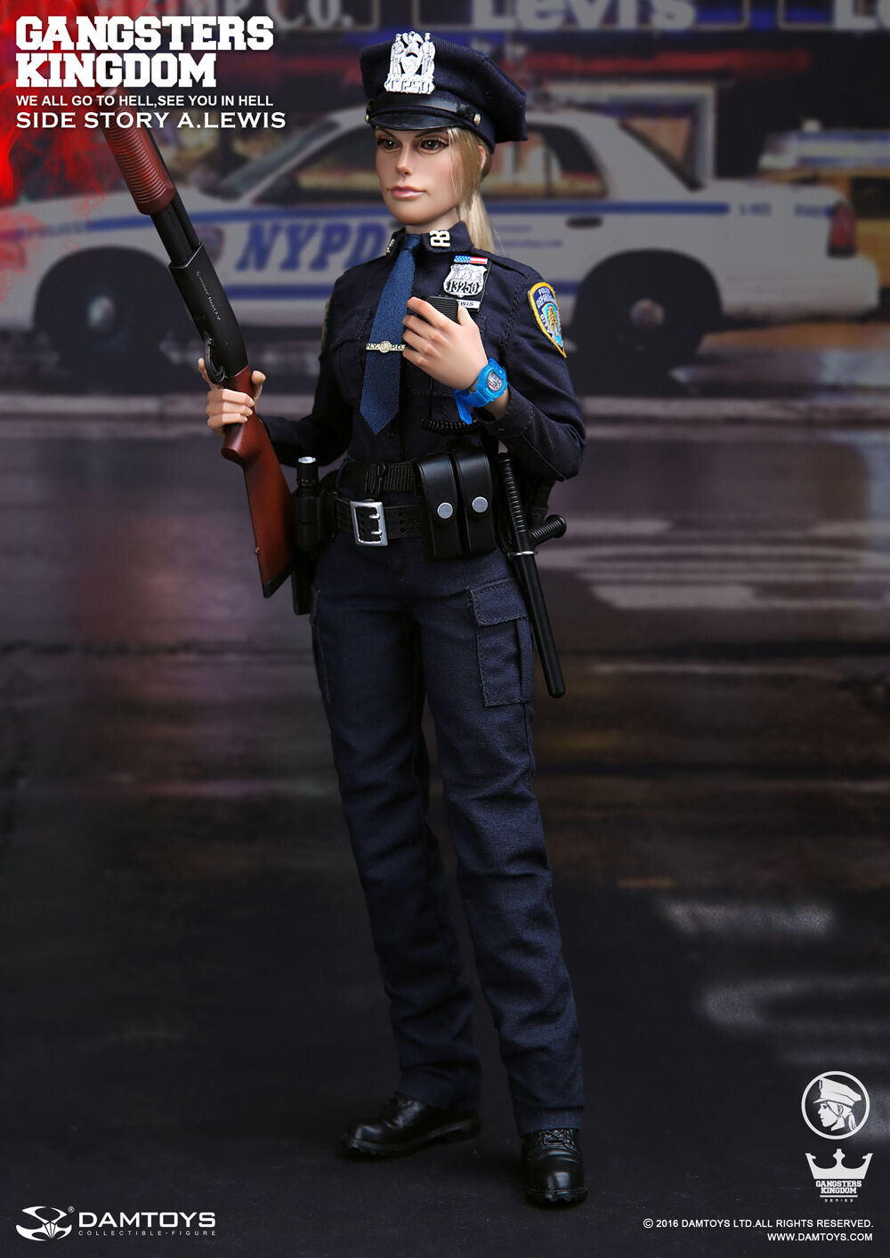 DAM Toys Gangsters Kingdom - SIDE STORY FEMALE OFFICER A.LEWIS 1 6 Figure