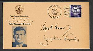 John F & Jacueline Kennedy Autograph Reprints Inaug. Postcard on 1961 Paper *108