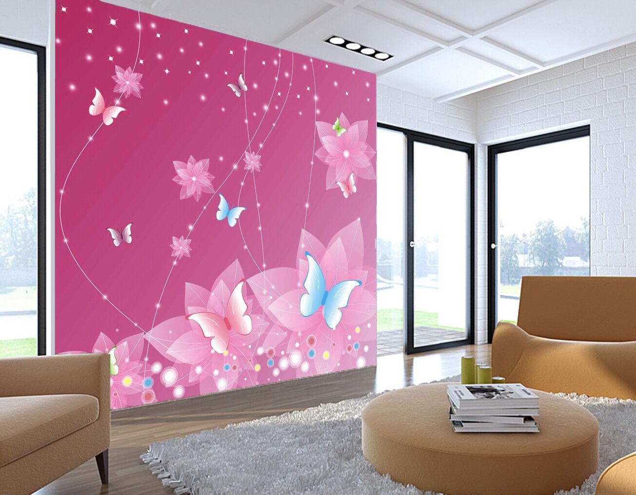 3D lila Butterflys 7 Wall Paper Murals Wall Print Wall Wallpaper Mural AU Kyra