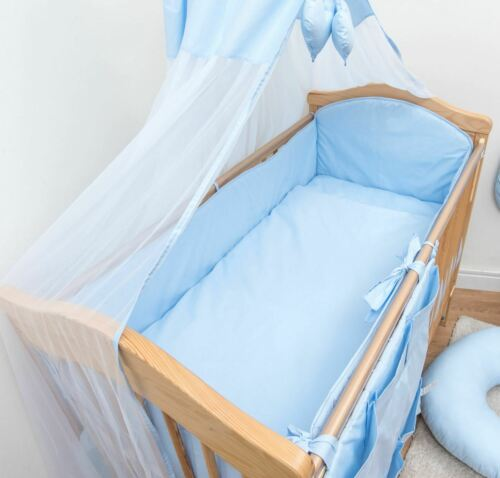 3 Piece Cot Crib Bedding Set Long All Round Bed Bumper