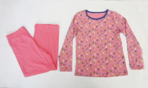 Bambine Bambini PJ Pigiami Sleepwear Giarrettiera Floreale Stampato 4-13 NERO venerdì