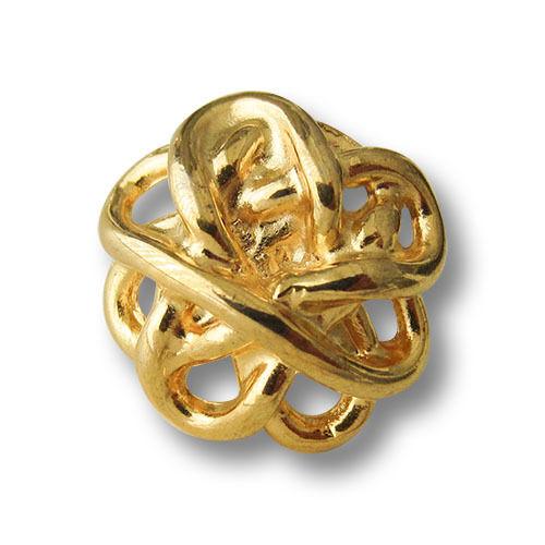 5 Noble Brillant goldfb métal œillets boutons comme accédait noeuds 0584go-19