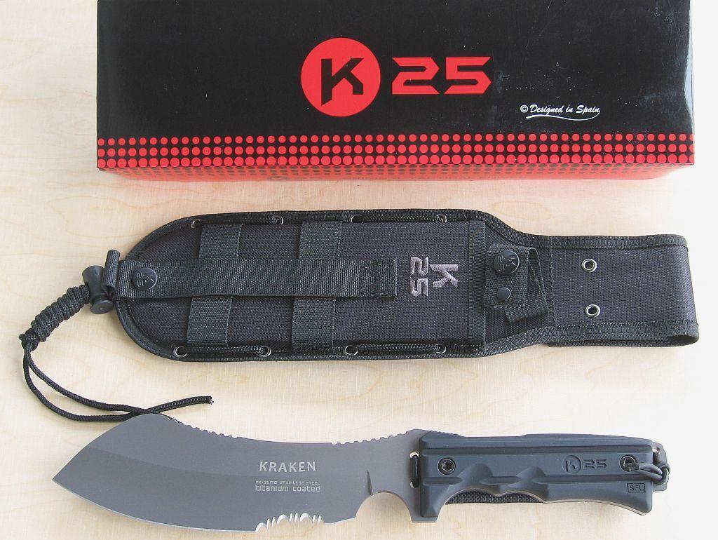 K25 GÜRTELMESSER TACTICAL KNIFE KRAKEN KRAKEN KRAKEN 32176 NEU/OVP ee60d3