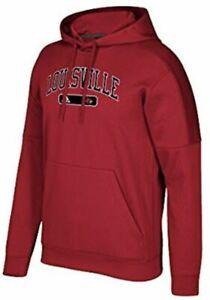Details about NWT Adidas Men's Louisville Cardinals Arched Heat Team Hoodie Sweatshirt, Small