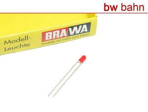 Brawa-3298-Leuchtdiode-rot-3-mm-Ersatzdiode-fuer-6128-Neu