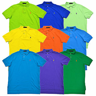 Polo Ralph Lauren Polo Shirt Mens Classic Fit Mesh Short Sleeve Pony Logo New