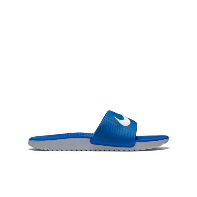d2f26bd45cd1 NEW Nike Kawa Slide Sandals Slip-On Royal Blue Gray Youth Kids Girls ...