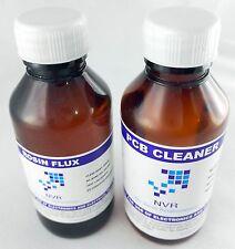 100ML rosin flux low residue   + PCB cleaner combo NVR  branded plastic safe