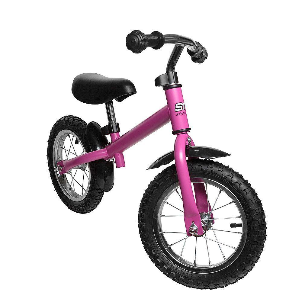 Safetots Ultimate Kids Balance Bike Toddler Safety Ride on Balance Bike Pink