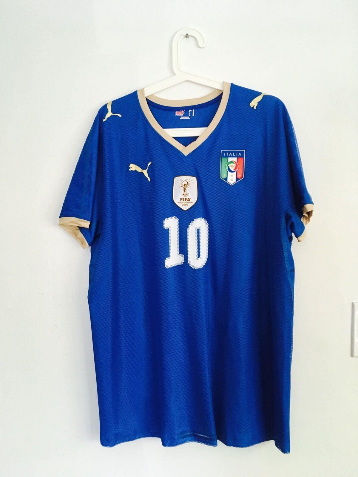 Pirlo, Italia 2008 coinciden con problema de las Naciones Unidas Camiseta Jersey Usado Raro Italia Maglia