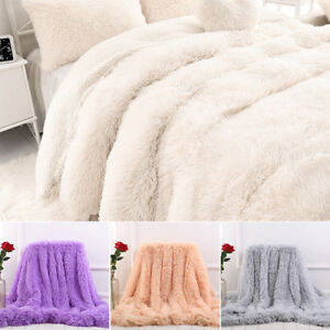 BLANKET SOFT FUR SOFA BED THROW WARM FLEECE LARGE MINK FAUX SINGLE TO KING SIZE