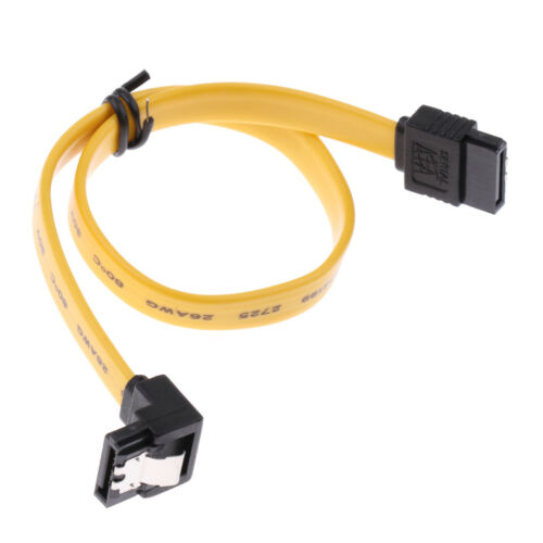 4x SATA III Data Drive Cable 6.0Gbps With Locking Latch 11.8/'/'//30cm 90Degree