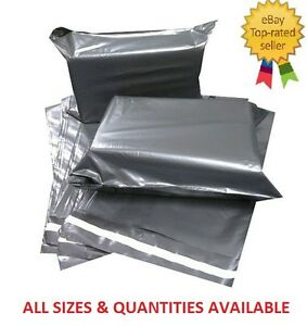 GREY-PVC-PLASTIC-MAILING-BAGS-GOOD-QUALITY-ALL-SIZES-55mu-thickness