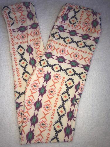 LuLaRoe Kids Leggings L//XL Large XLarge NWT Orange Blue Purple Aztec