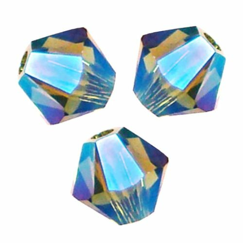 15 Perles Toupies 4mm en cristal Swarovski  OLIVINE AB2X