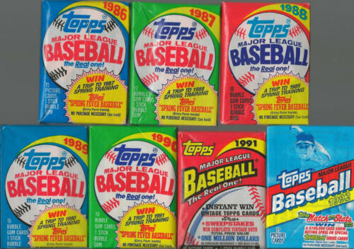 Huge Lot of 75 Unopened Old Vintage Topps Baseball Cards in (5) Wax Rack Packs