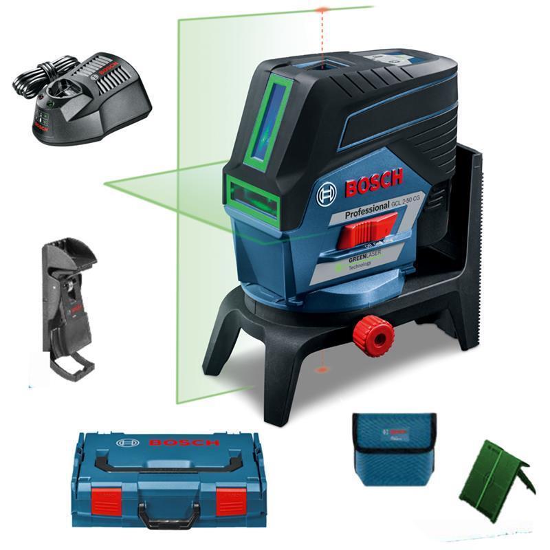 Bosch Kombi-Laser Kreuzlinienlaser GCL 2-50 CG inkl. L-Boxx , RM2, Akku, Lader