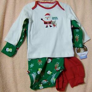 8cb7292f1b1 3-6M Carter s Child of Mine Infant Baby Christmas Clothes 3P Shirt ...