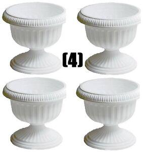 "(4) ATT Southern UR1810WH 18"" White Grecian Urn Plastic ..."