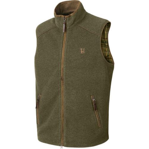 Dusty Lake Green Melange Harkila Sandhem Fleece Waistcoat Polartec Vest Gilet