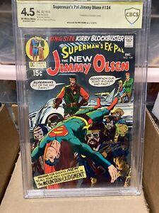 Superman's Pal Jimmy Olsen #134 CBCS 4.5 1st Darkseid Sign Neil Adams Not CGC