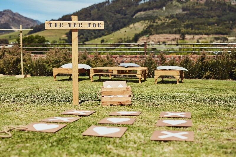 Lawn games available for hire for  weddings and events