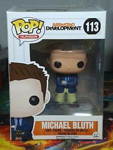 New Official FUNKO POP Arrested Development Michael BLUTH #113 Vinyl Figure