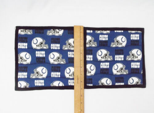 "Indianapolis Colts Pattern Potholder-9 X 9/""-Set of 2 Handmade-Pizazz Creations"
