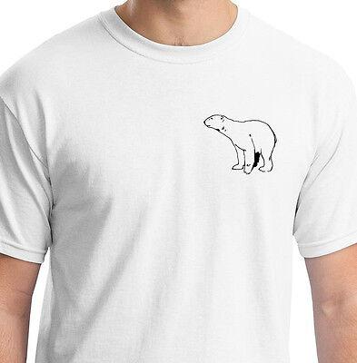LONELY POLAR BEAR WHITE T SHIRT ANIMAL GIFT BIRTHDAY