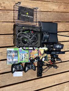 Xbox 360 Slim Black Microsoft Console Model 1439 W Games ...