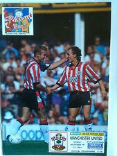MINT 1991/92 Southampton v Manchester United 1st Division