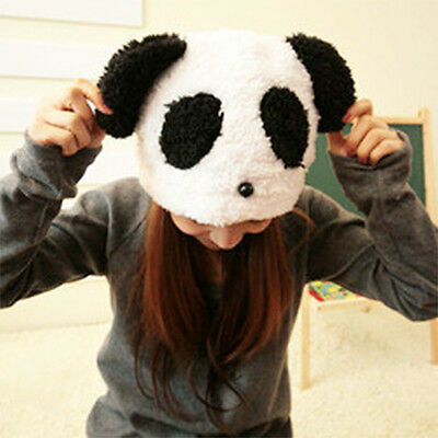 Lovely Women's Girls' Winter Warm Soft White Plush Panda Hat