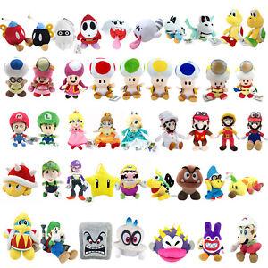 Super Mario Bros Yoshi Koopa Toadette Blooper Toad Princess Plush