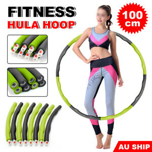 Weighted-Hula-Hoop-Foam-Padded-Body-Massage-Waist-Slim-Fitness-Exercise-Gym-NEW
