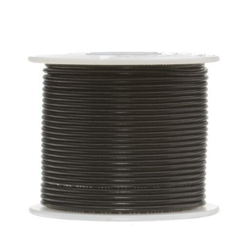"""18 AWG Gauge Stranded Hook Up Wire Black 500 ft 0.0403/"""" PTFE 600 Volts"""