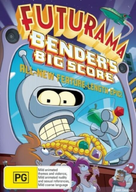 Futurama: Bender's Big Score (Feature Length Special DVD) Like New, Animation