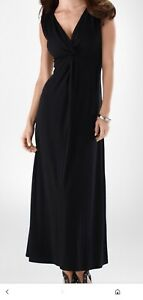 NWOT-SOMA-SAMANTHA-REVERSIBLE-MAXI-DRESS-BLACK-SIZE-S
