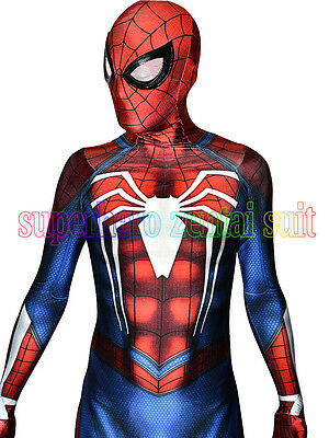Insomniac Spiderman Costume Halloween Cosplay PS4 Insomniac Games