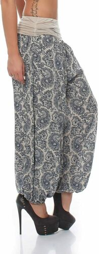 Harem Pants Paisley Print Boyfriend Pants Aladdin Bloomers Baggy Yoga Plus Size