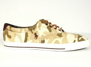 1c55184f2552d Image is loading Polo-Ralph-Lauren-Vaughn-Tan-Camouflage-Casual-Shoes-