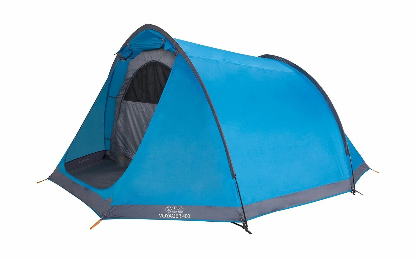 Vango Waterproof Voyager 400 400 400 Unisex Outdoor Tunnel Tent Blau 4 Person BRAND NEW 21dbcc