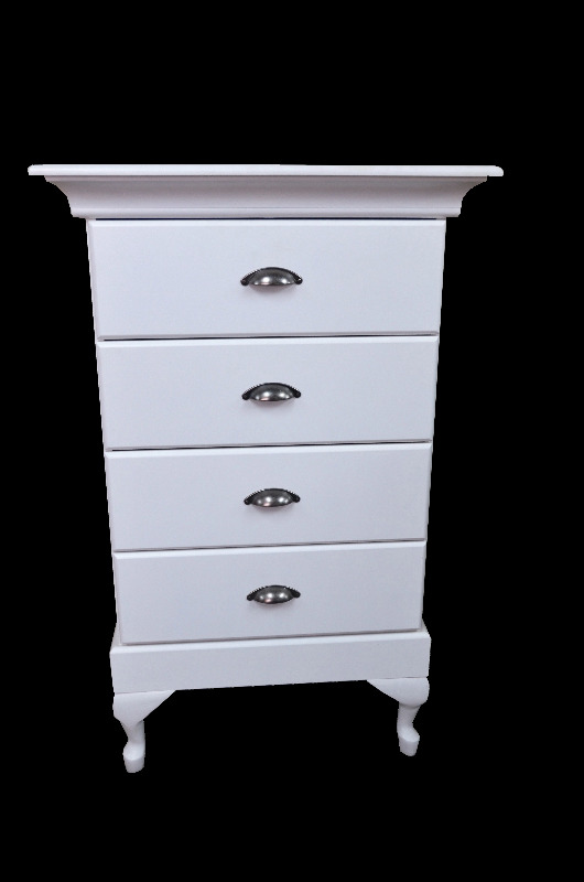 *MAIDSTONE FURNITURE* CHEST OF DRAWERS FOUR DRAWERS WITH FEET (SEE COLOUR CHART) 119cmHx74cmWx49cmD